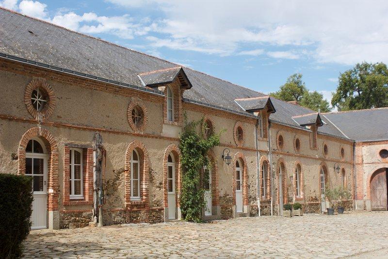 Belle maison de campagne avec 5 chambres et piscine chauffée. Vallée de la Loire, holiday rental in Saint-Aubin-de-Luigne