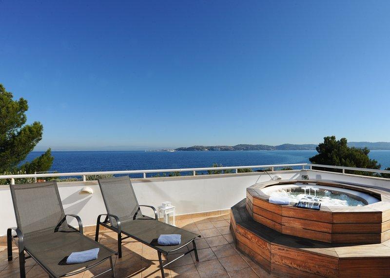 Villa Cablex I, terrace with sea view