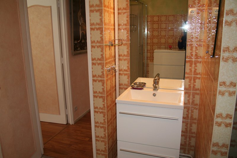 View of the washbasin bathroom