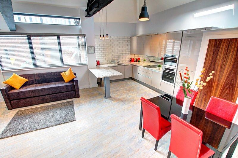 Stunning Spacious Apartment, 2 Bedroom + Mezzanine, location de vacances à Manchester