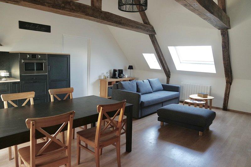 appartement spacieux 6 pers. au coeur de bayeux, holiday rental in Saint-Vigor-le-Grand