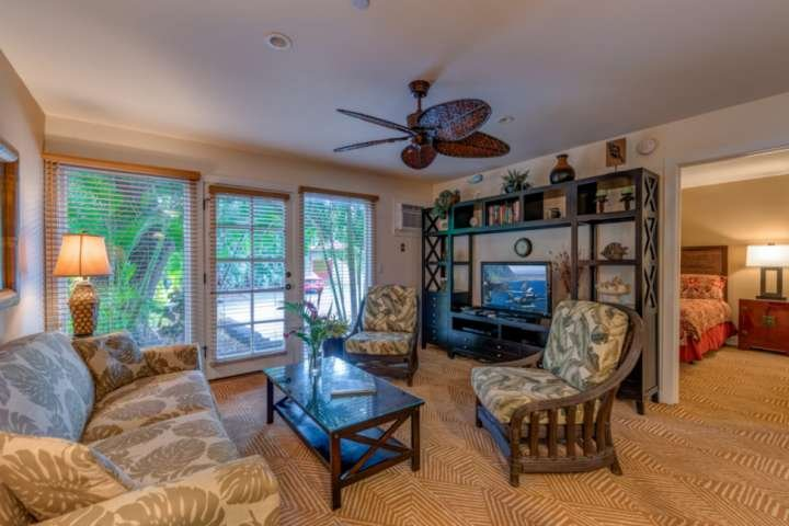 Aina Nalu Resort J -110 is a spacious two bedroom / two bath condo tastefully decorated in island themed decor.