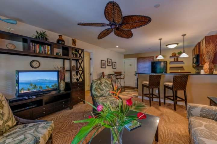 Flat Screen televisions with cable and WiFi in living room and bedrooms.