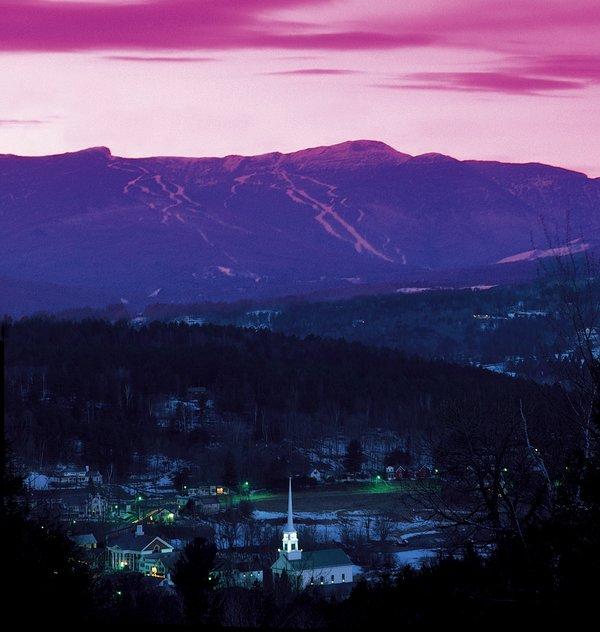 Otra hermosa puesta de sol en Stowe Vermont