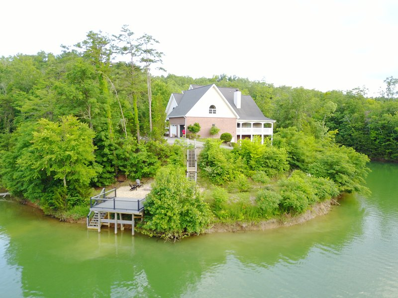 View of the Lake House from the lake