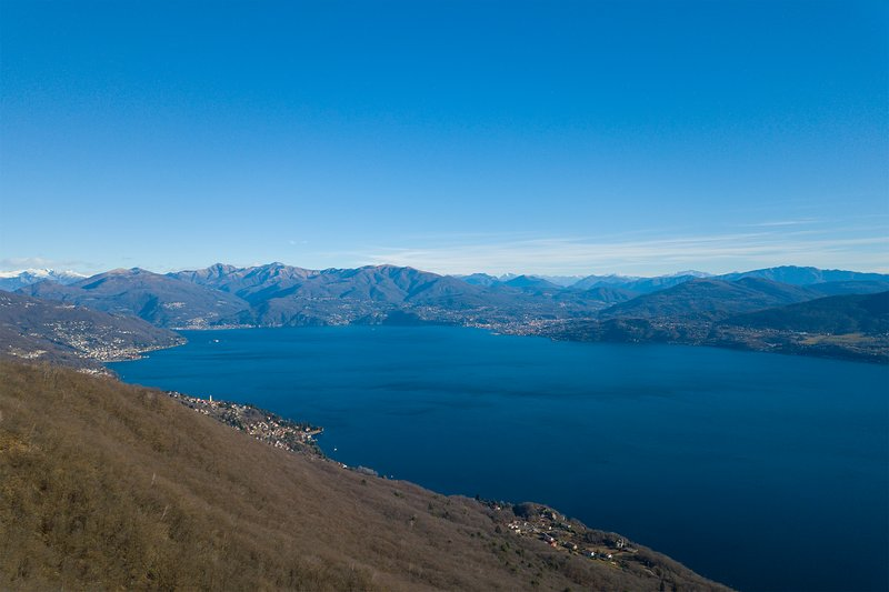 Lake Maggiore from above