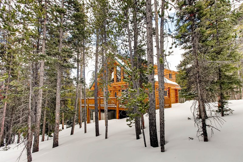Pinecone Mountain Chalet is a gorgeous log cabin located in the heart of the Rocky Mountains near Breckenridge, Fairplay, Buena Vista, and Alma.