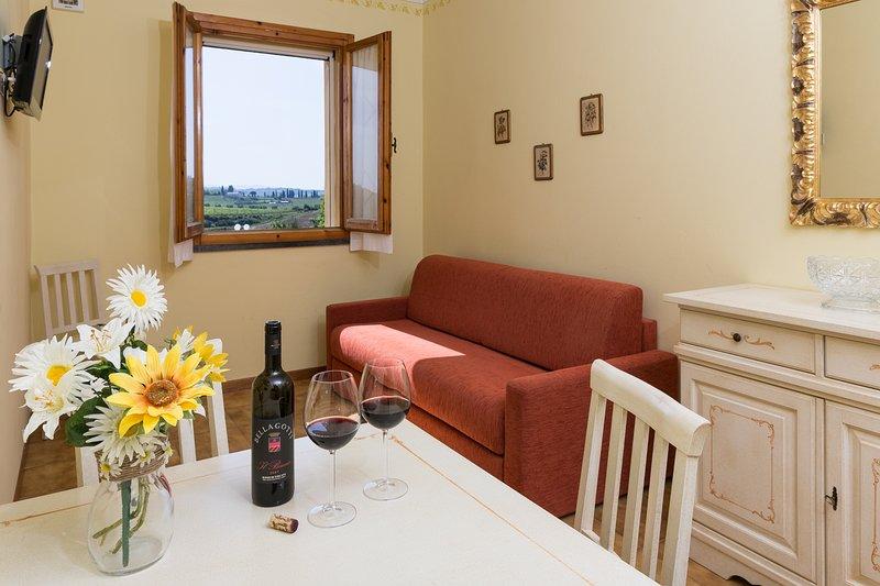 Bilocale con ingresso al primo piano, vacation rental in Terricciola
