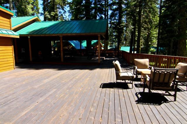 Large and spacious deck for enjoying time outside.