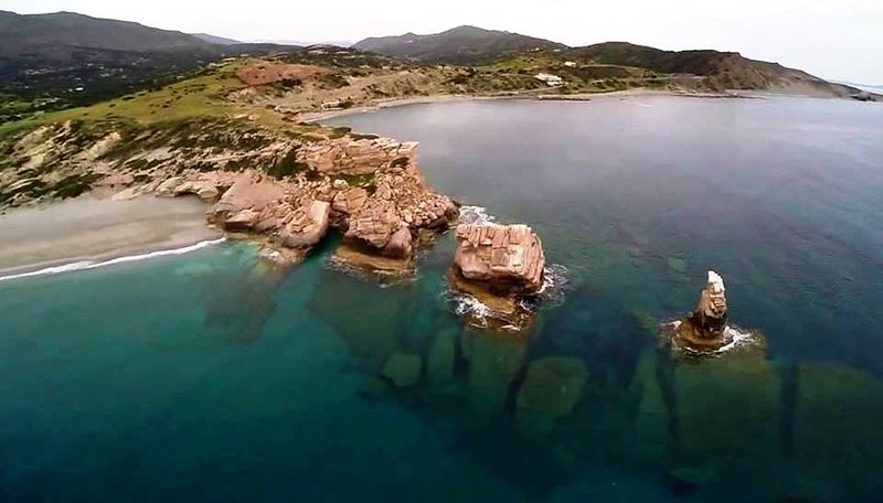 Triopetra beach in south Crete