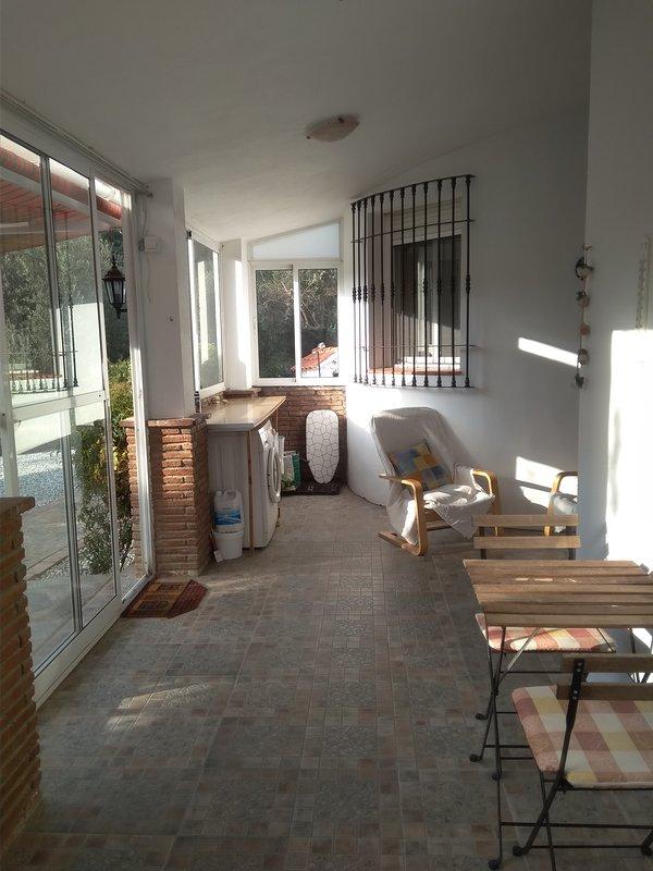 Utility area on the veranda