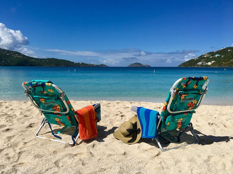 World Famous Magens Bay Beach 1 mile down road from Villa! You deserve this!