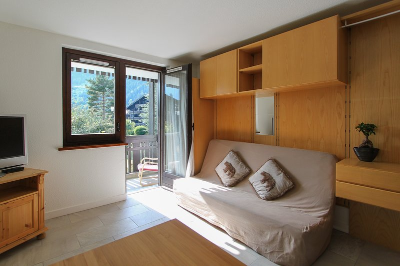 Beautiful studio with mountain view, holiday rental in Les Praz-de-Chamonix