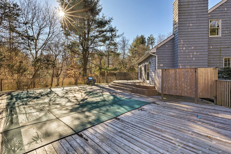 This pool deck will be everyone's favorite hangout in the warmer months!