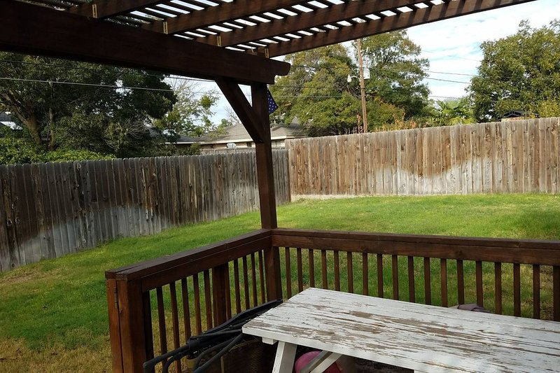 Back Yard with Pergola and Picnic Table