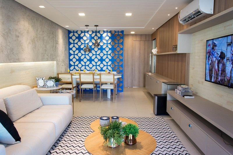 Golf Ville Apartamento alto padrão 3 suítes com varanda gourmet, casa vacanza a Aquiraz