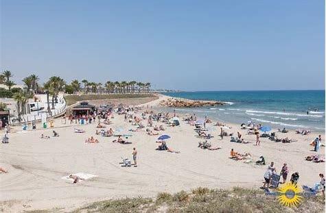 Playa Flamenca Beach 4 minute drive from the apartment.