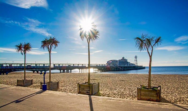 La plage de Bournemouth (20 min en voiture)