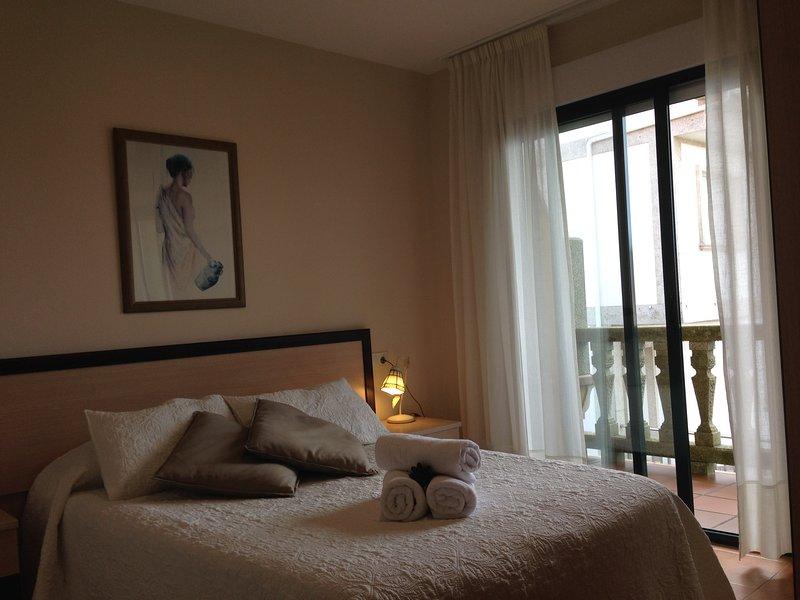 Aqualecer. 1 dormitorio con vistas al mar, vacation rental in Sanxenxo