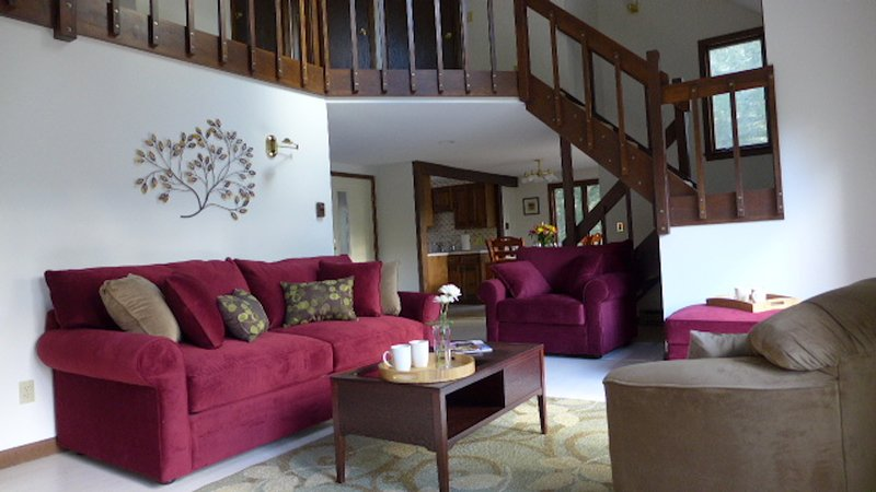 Our living room has VERY comfortable seating!
