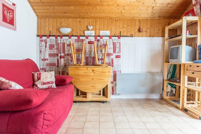 Nice studio - 200 m from the slopes, location de vacances à Thollon-les-Mémises