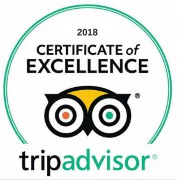 Garden Cottage was awarded a Certificate of Excellence 2018