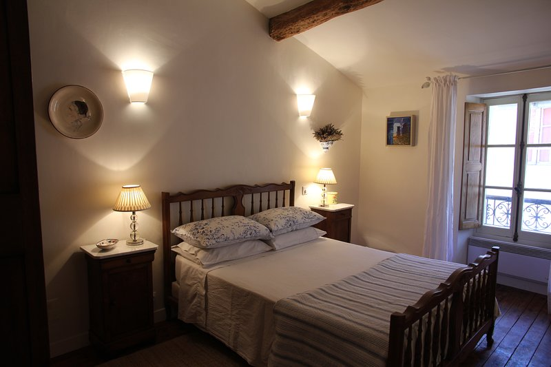 Your spacious bedroom: double-bed, a selection of pillows, quality linen, large wardrobe, lockable.