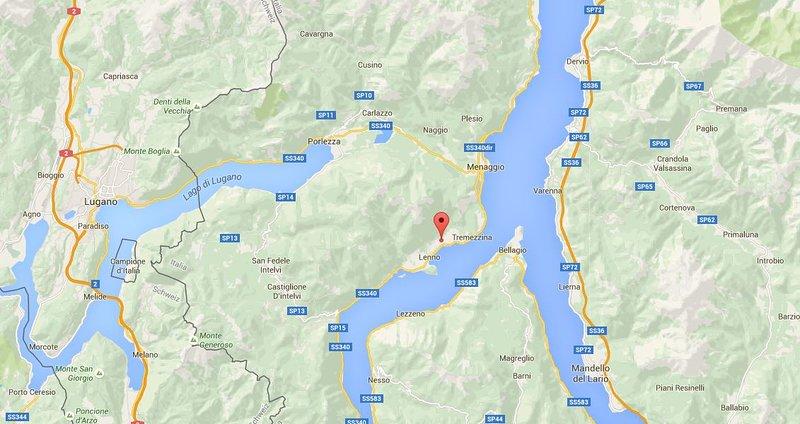 Location on Lake Como