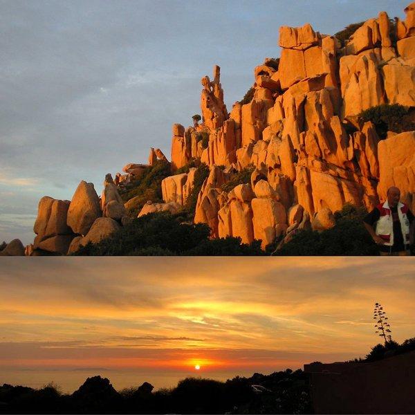 aperçu des spectaculaires roches de granit rouge du golfe de Costa Paradiso