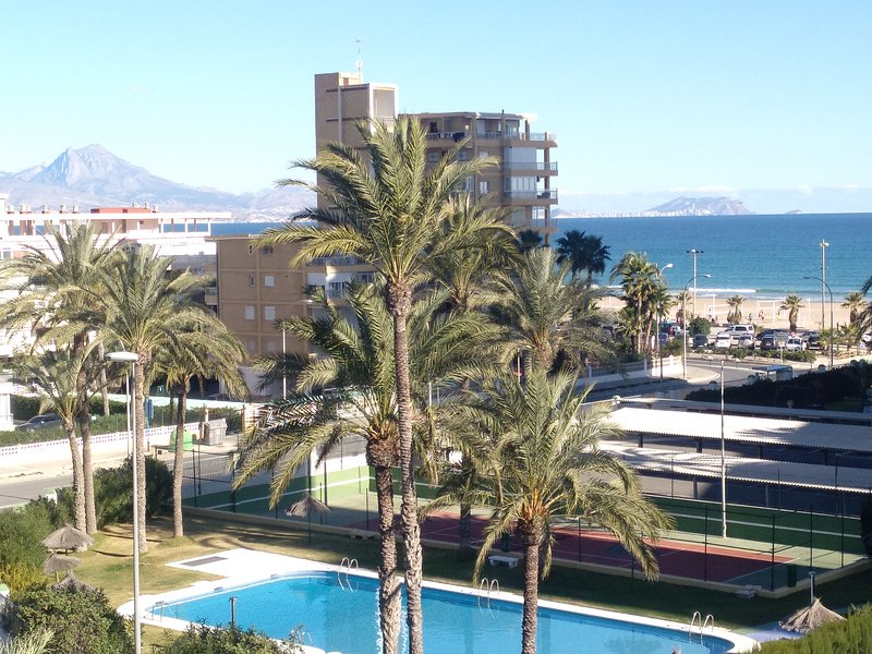 Views of the bay of Alicante from the terrace of the apartment