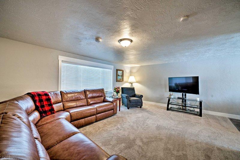Explorez la région des chutes d'Idaho depuis cette maison de location de vacances comprenant 5 chambres et 3 salles de bain!