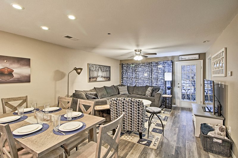 This 2-bed, 2-bath unit is the perfect home base for your Branson adventures!
