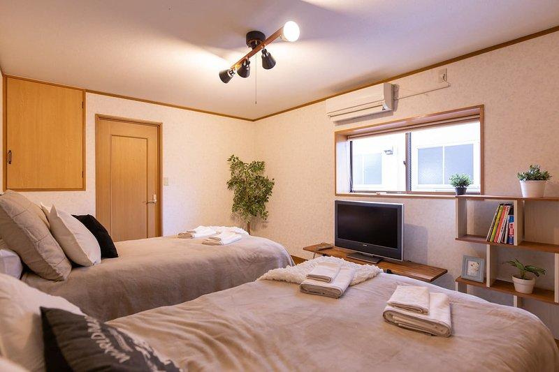 Central 3BR 5min to Namba Kitsune House KT01, alquiler vacacional en Ibaraki
