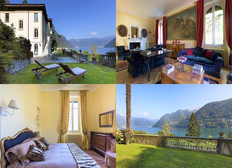 Villa Ortensia,amazing view on the lake of Como, alquiler vacacional en Laglio