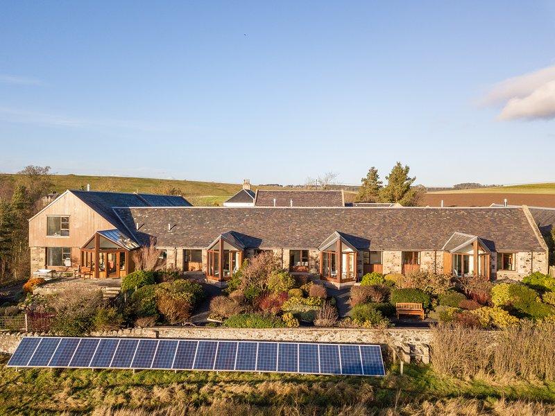 Burnbrae Holidays cottages et jardin de cottage.