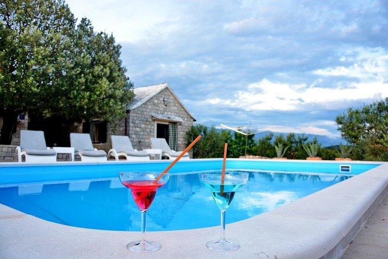 Ferienhaus 887-1 für 6 Pers. in Pucišca, vacation rental in Povlja