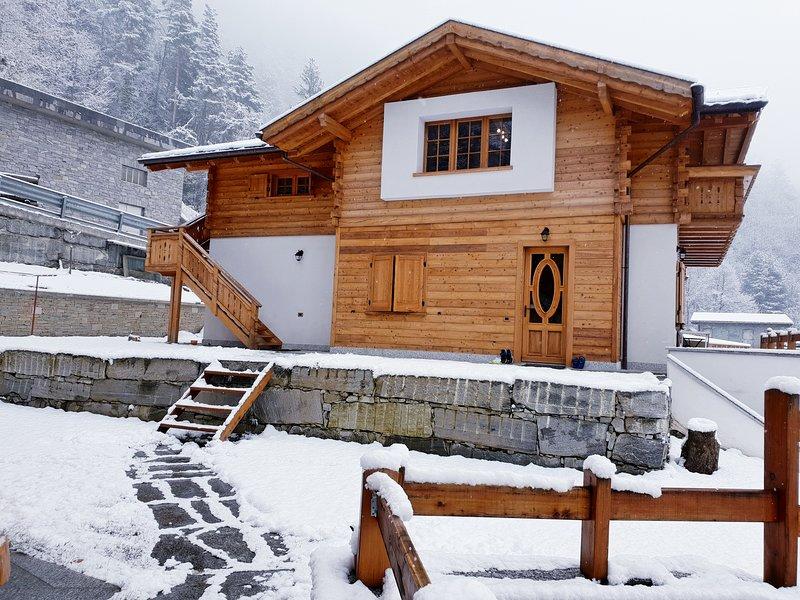 Splendido chalet mansardato in legno, holiday rental in Altoggio