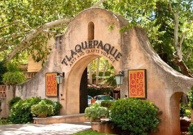 Tlaquepaque, distinctictive in architecture, is one of many shopping areas with unique items.