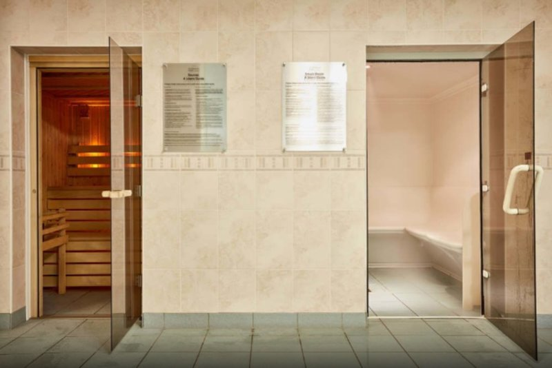 The sauna and steam room