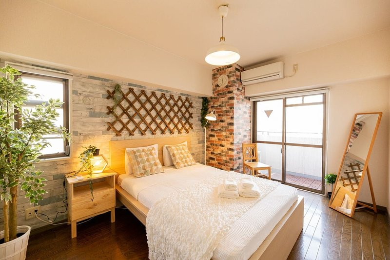 Dotonbori 5min Cozy Stay Apartment GD100 5ppl, alquiler vacacional en Ibaraki