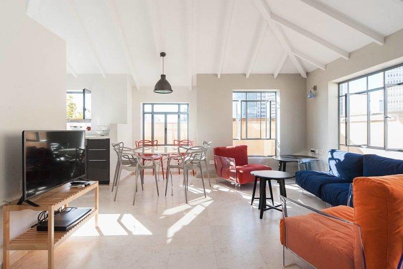 living room on the upper floor