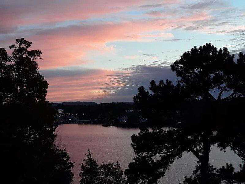 Vista del tramonto dal balcone