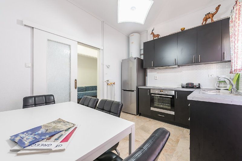 Athens Center Grand Apartment Above Metro Station, holiday rental in Tavros