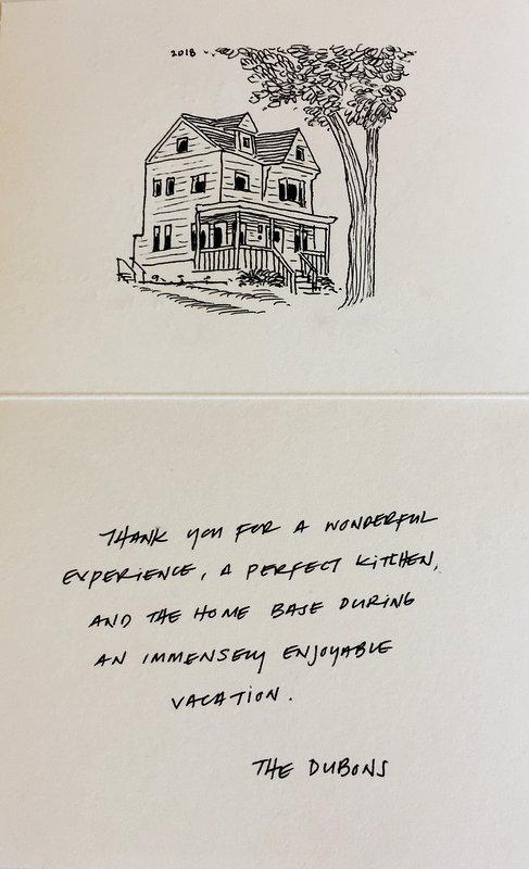 Una sentita testimonianza con un bellissimo disegno a matita di The Red House