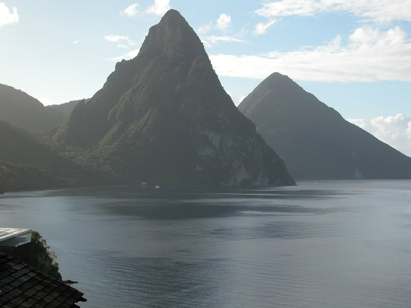 Pitons...1 hour south.