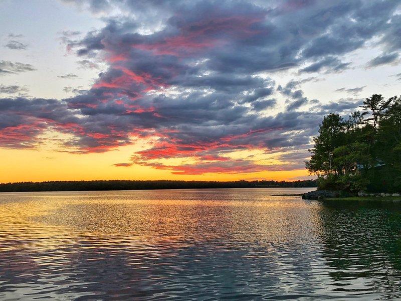 sunset/dusk over the bay