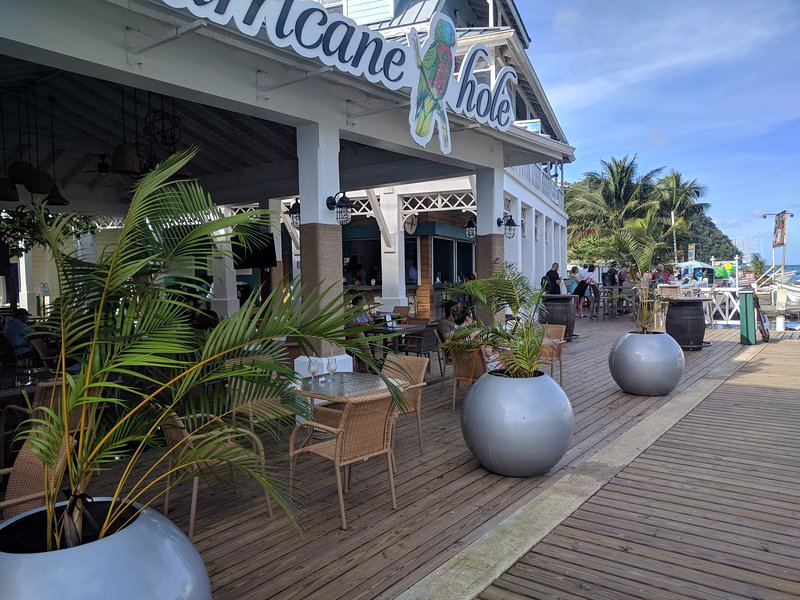 The Hurrican Hole in The Marina Village, perfect for a cool drink, snack or evening entertainment.