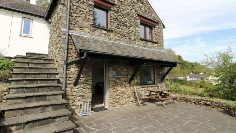 Latterbarrow cottage's spacious sunny patio