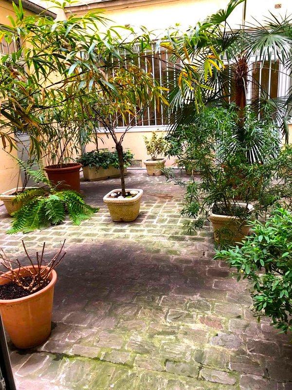 Chapon loft - patio y entrada