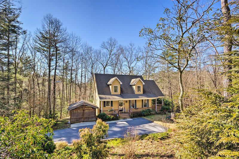 Plan your next North Carolina escape to this charming Hendersonville residence!